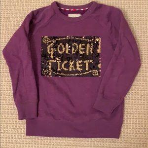 Mini Boden Roald Dahl Golden Ticket Sweatshirt